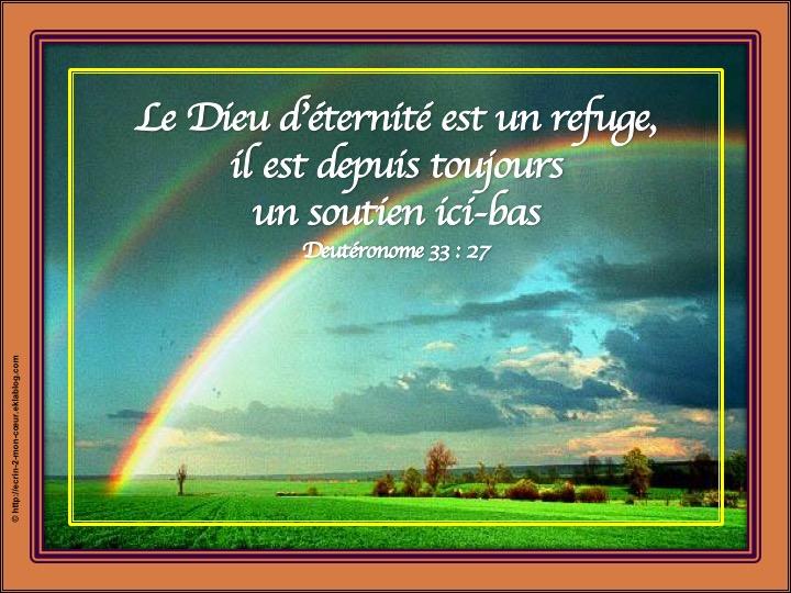 Dieu est un refuge - Deutéronome 33 : 27
