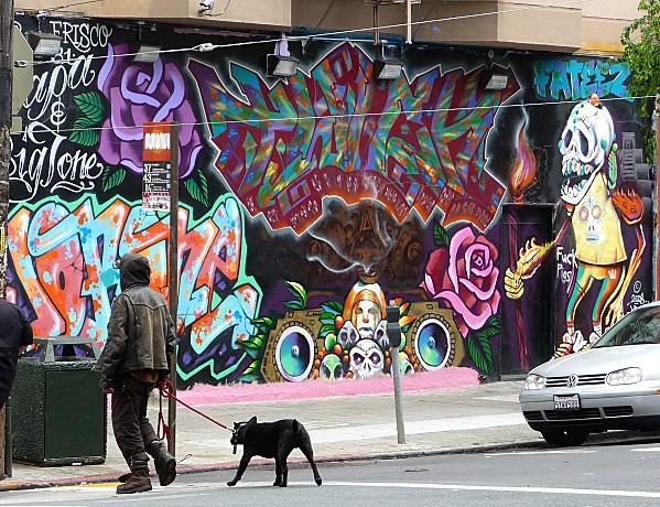 San Francisco Haight Ashbury fresque 1