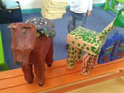 Galerie : animaux en papier collé