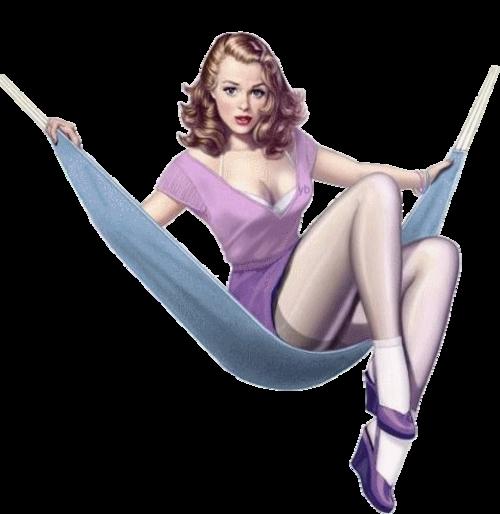 Femme sur  balançoire ou divers 1
