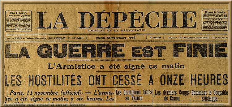 11 novembre 1918 : l'Armistice est signée