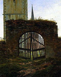 Caspar David Friedrich - The Cemetery Gate The Churchyard -