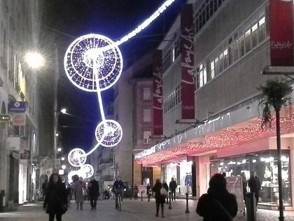 Quelque rues illuminées