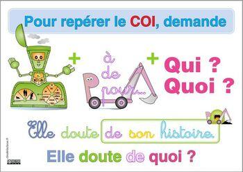 COI = question verbe + prépo + qui quoi ?