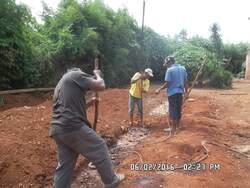 Fondation en pierre volcanique