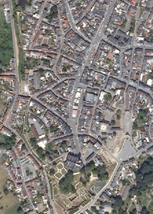 Binche - centre-ville en 2006 (geoportail.wallonie.be)