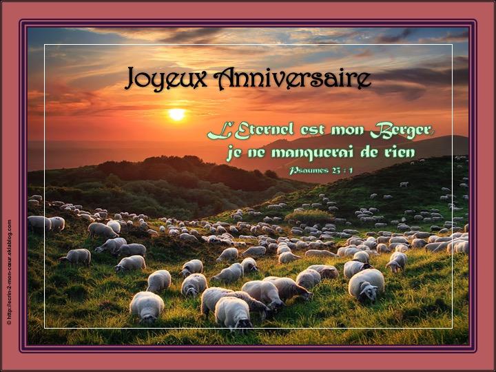 Joyeux Anniversaire - Psaumes 23 : 1