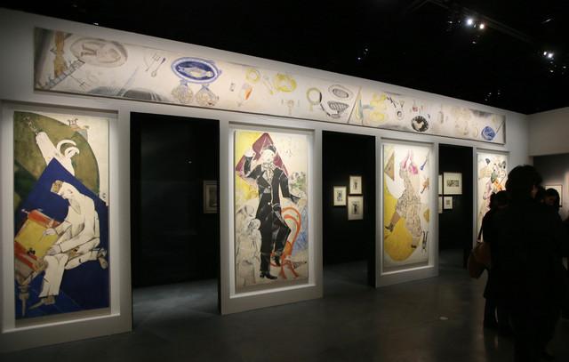 Les quatre Allegories du Théâtre d'art juif