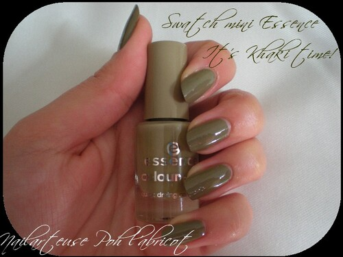 Swatch vernis Essence et son nail art
