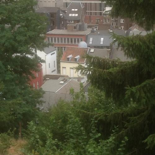Temple Antoiniste de Liège, vue de dos (depuis la Montagne de Bueren)