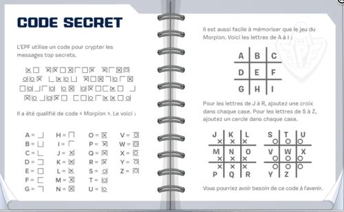 Traduction du texte du secret du journal