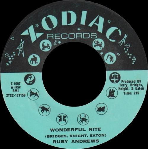 "Ruby Andrews : Album "" Everybody Saw You "" Zodiac Records ZS-1001 [ US ]"