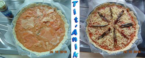 Une pizza détournée aux chutes de saumon ...