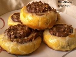 Roulé feuilleté au nutella noix/noisette
