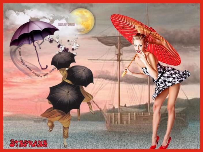 Pour cerise déco le beau défi , (parapluit)