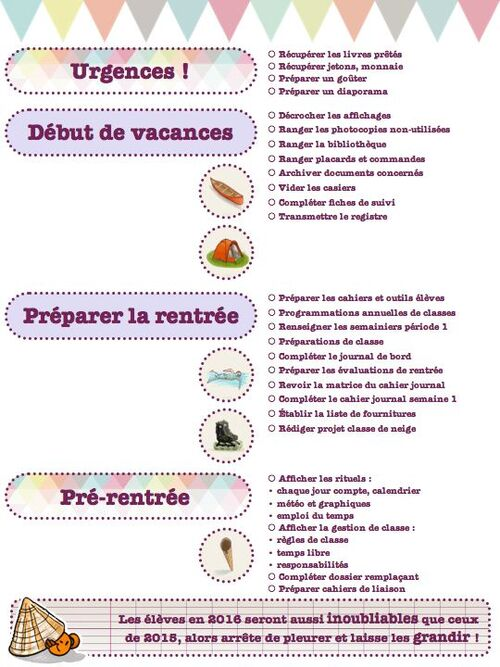 to-do list vacances d'été !