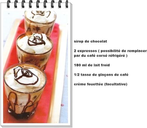 Café moka classique glacé