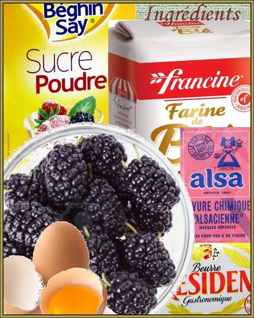 Recette de cuisine : Gâteau aux Mûres