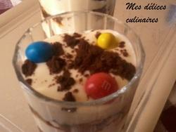 Tiramisu speculoos/m&m's nappage caramel
