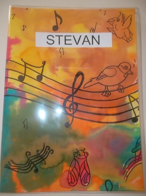 Couvertures du cahier de musique