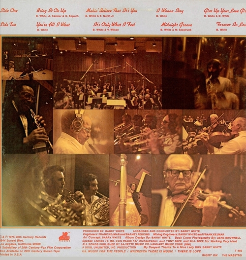 "The Love Unlimited Orchestra : Album "" Music Maestro Please "" 20Th Century Records T-480 [ US ]"