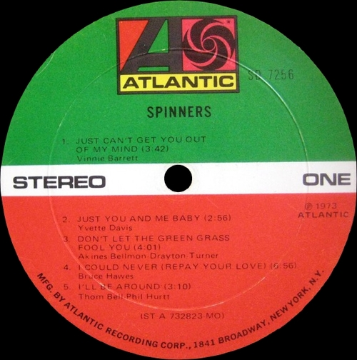 "The Spinners : Album "" Spinners "" Atlantic Records  SD 7256 [ US ]"