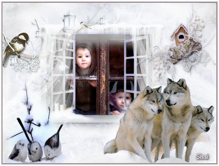 * Les loups  Défi de Arlette  *