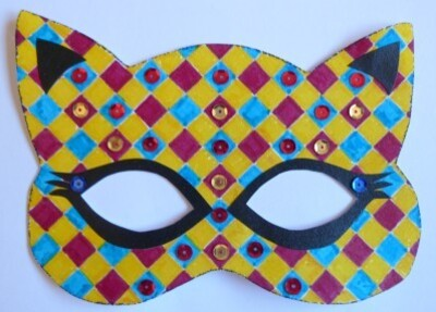 Masque Chat Arlequin