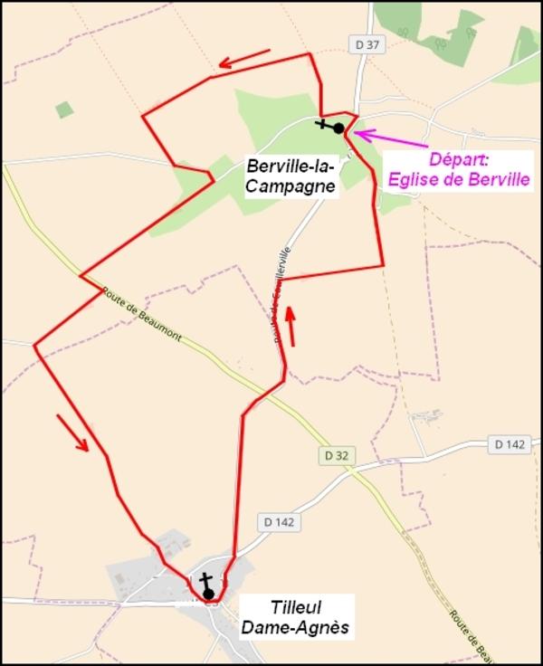 Le circuit des plaines de Berville-la-Campagne