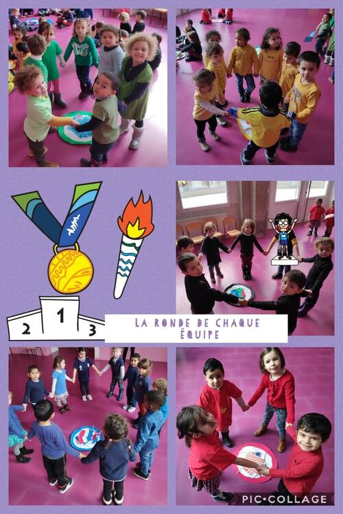 Les jeux olympiques en PS et MS.