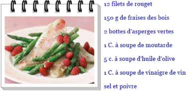 Filets de rouget aux asperges