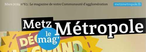 Metz Métropole le mag' de mars 2014