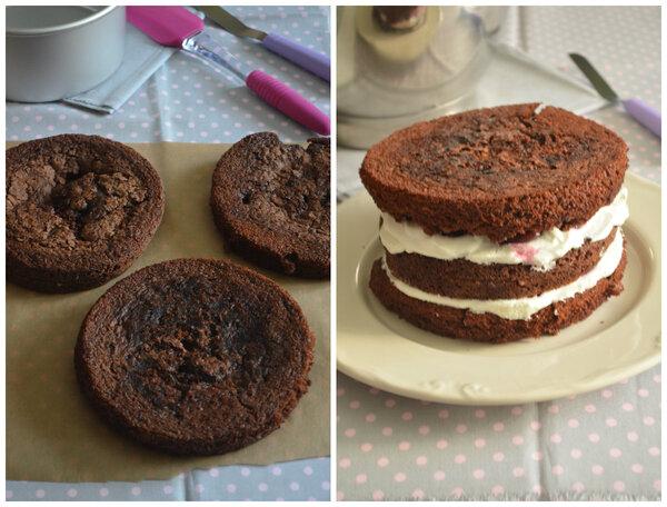Layer Cake aux Griottes {...ou ma version de Forêt Noire}