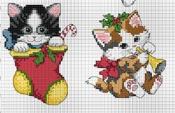 Cartes de Noël, chats 5 et 6.