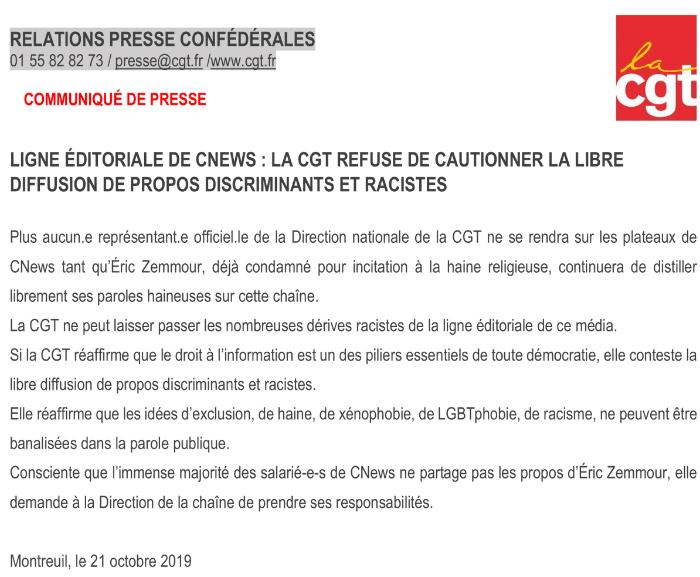 Zemmour poussé hors de CNews par les salariés du groupe Canal+ ?
