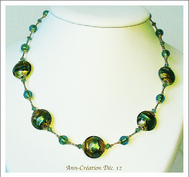 Collection Murano Feuille d'Or - Les Verts & Or / Galerie 2