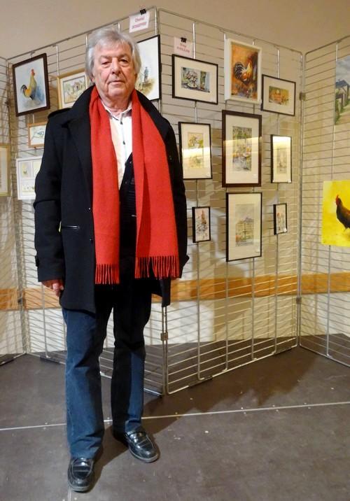 Les peintres de la section peinture des Amis du Châtillonnais ont exposé au salon avicole 2016