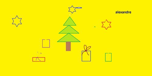La lettre du Père Noël et les dessins de Noël des élèves du CPA