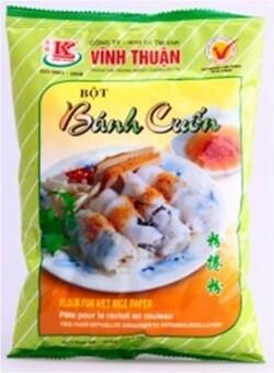 BÁNH CUÔN - Fines crêpes de riz farcies, avec sauce Núoc Cham