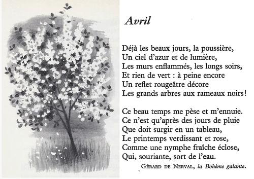 AVRIL (Gérard de Nerval)