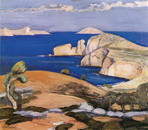 Quelques îles dans la peinture grecque contemporaine (5)