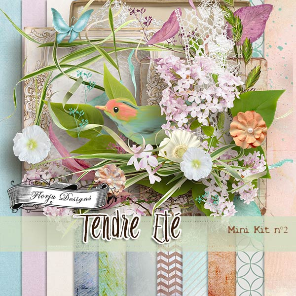 Tendre Ete { Mini kit 2 PU } by Florju Designs