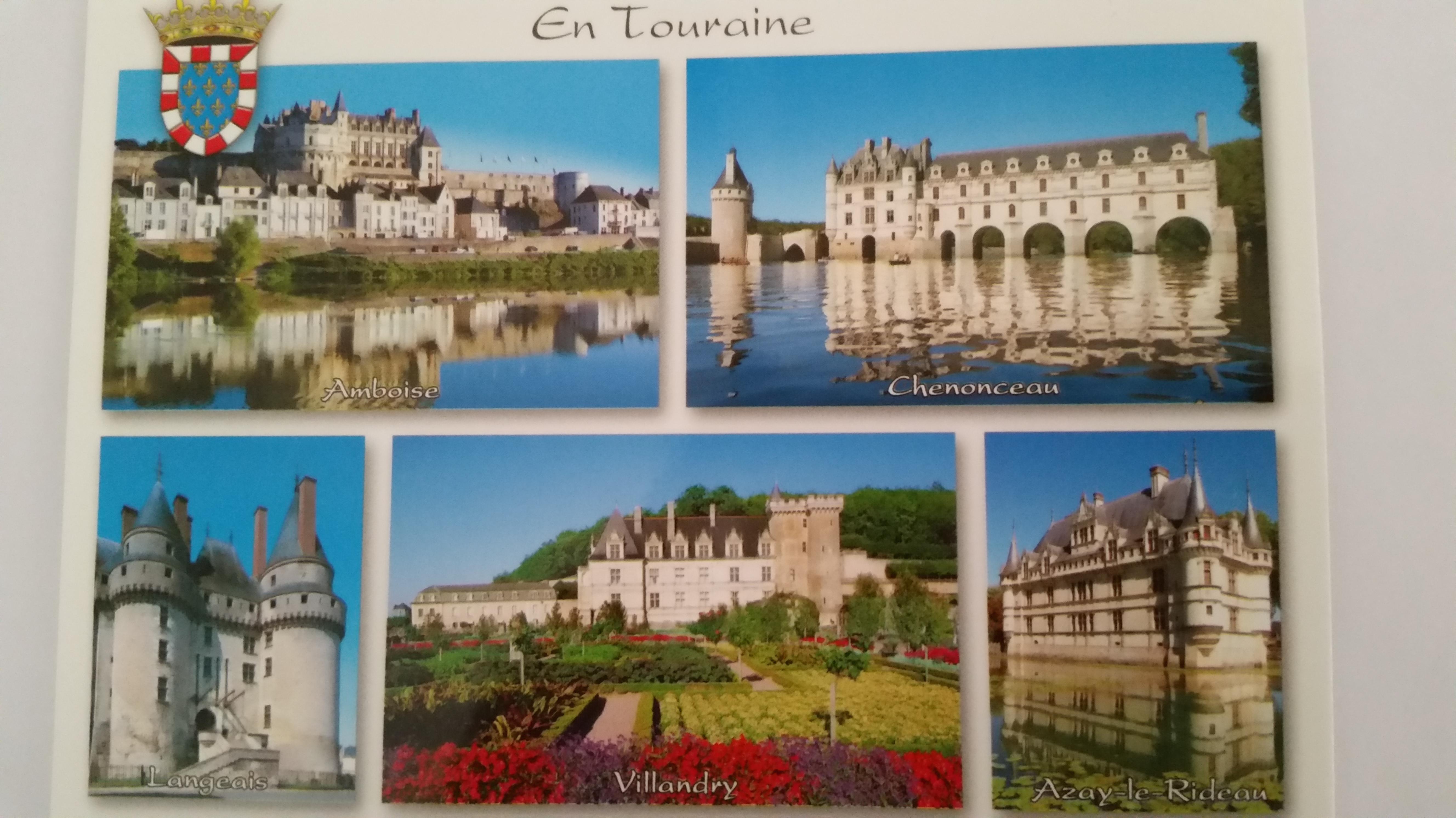 La touraine indre et loire mes cartes postales - Office de tourisme de tours indre et loire ...
