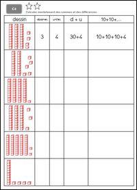C1: Connaître les tables d'addition et calculer mentalement