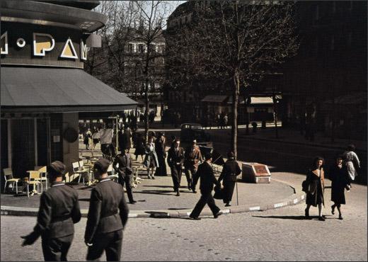 Café Le Pam-Pam, angle du boulevard Saint-Michel et de la rue Monsieur Le Prince.