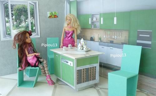 Studio-photos Barbie : cuisine terminée