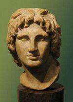 Portrait d'Alexandre le Grand qui date de 334 à 323 avant Jésus-Christ