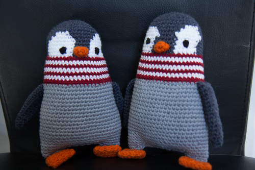Mylène - Crochet : Doudou Pingouin