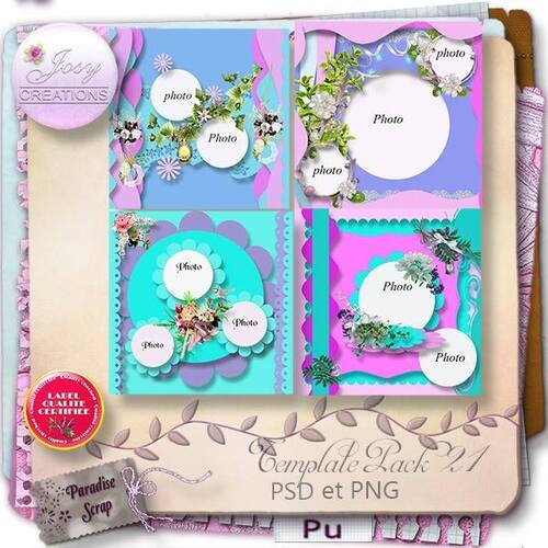TEMPLATES PACK 21 DE jOSYCREATIONS