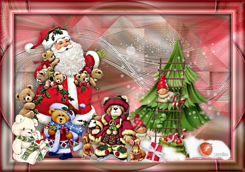Jour 22 Les animaux du père Noël de Nath